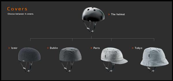 Yakkay Fashionable Bicycling Helmet Covers for Women