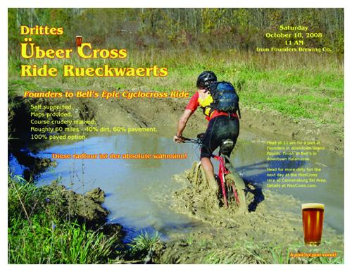 Jason Roon flyer, for Ubeercross Ride 2008