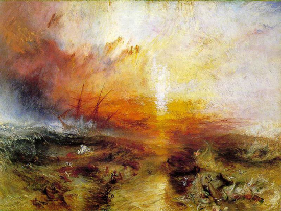 Turner\'s Slave Ship Painting