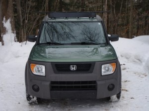 Front View Rail Rack Honda Element