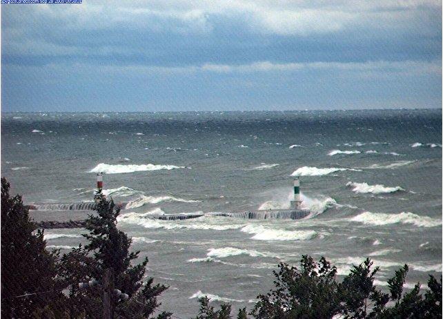 Fall Storm on Lake Michigan Sept 29 2009