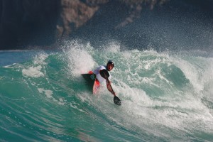 Chris Harvey Surf Kayaking at the world competition