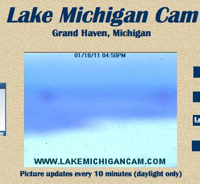 Lake Michigan Web Cam in Winter