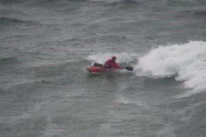 Stormy Day Santa Cruz Surf Kayak Festival Steamer Lane