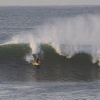 Caroline Janganant's photo of John Bonaventure surfing the first day of 2011 santa cruz surf kayak festival